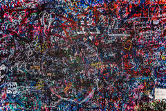 The wall full of messages, Verona, Italy. Royalty Free Stock Photography