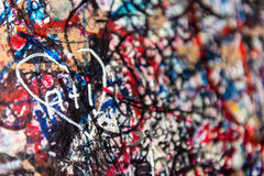 The wall full of messages, Verona, Italy. Stock Photo