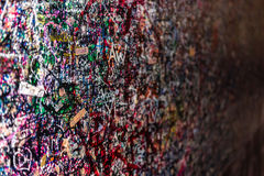 The wall full of messages, Verona, Italy. Stock Images