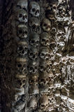 Wall full of skulls and bones Stock Image