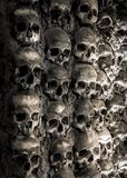 Wall full of skulls and bones Stock Images