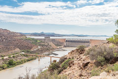 Wall of the Gariep Dam Royalty Free Stock Photography