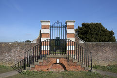 Wall and gate around Hampton Court Palace Grounds Royalty Free Stock Photos
