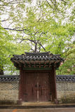 Wall and gate at the Changdeokgung Palace in Seoul Royalty Free Stock Images