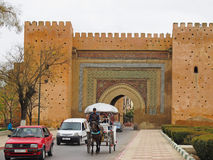 Wall Gate in Meknes Royalty Free Stock Photo