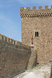 The wall of the Genoese fortress. Royalty Free Stock Images