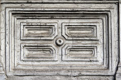 Wall with geometric designs Royalty Free Stock Image