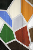 Wall with geometric shapes Stock Photo