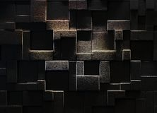 Wall with geometric structure. Interesting pattern on a wall Royalty Free Stock Photos
