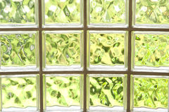 Wall from glass blocks . Royalty Free Stock Images