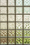 Wall from glass blocks . Royalty Free Stock Photography
