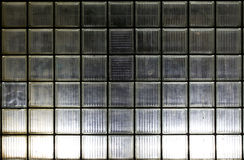 Wall of glass blocks in night illumination Stock Image