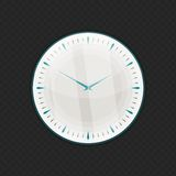 Wall glass clock Royalty Free Stock Images