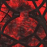 Abstract stained glass- metal grate Stock Image