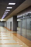 Wall with glass partitions Stock Photography