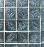 Wall from glass transparent square blocks Stock Images