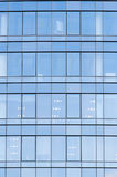 Wall with glass windows in new office Royalty Free Stock Images