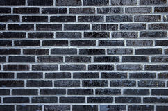 Wall of glazed bricks Stock Photos