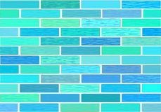 A wall of glazed tile in vivid colorful colors. Royalty Free Stock Photography