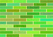 A wall of glazed tile in vivid colorful colors. Stock Photography