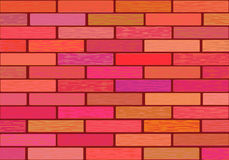 A wall of glazed tile in vivid colorful colors. Stock Photos