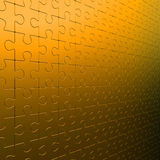 Wall of gold puzzle Royalty Free Stock Photos