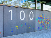 Wall of the Google office building in Zurich, Switzerland Stock Images