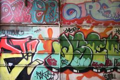 Wall graffiti. Abstract color background stock photography