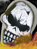 Wall graffiti. City graffiti on a wall - Skull Stock Images