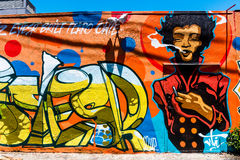 Wall graffiti Stock Photos