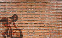 Wall graffiti featuring a woman Royalty Free Stock Photo