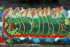 Wall graffiti stock images
