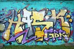 Wall graffiti stock image