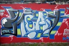 Wall graffiti royalty free stock image