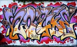 Wall graffiti. Funny magic graffiti on the wall Stock Photos