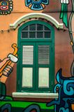 Wall graffiti. In haji lane singapore Stock Photography