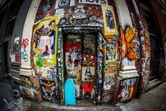 The wall of graffiti Manhattan. Shooting location :  Manhattan, New York stock photos