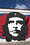 Wall Graffiti mural of Che Guevara in Havana. Royalty Free Stock Images