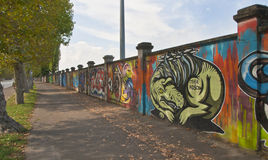 Wall Graffiti on the Way to San Siro Royalty Free Stock Photo