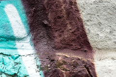 Wall with graffity close up photo paint stock image