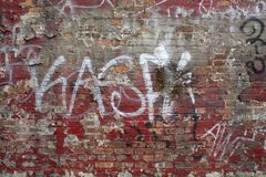 Wall of Grafitti Stock Photography