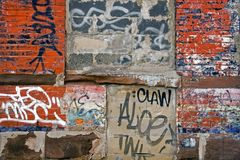Wall of Grafitti Stock Photos