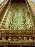 Wall of the Grand palace, Bangkok, Thailand. Shining gold wall of the Grand palace, Bangkok, Thailand Stock Photography