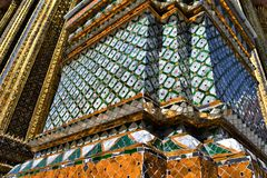 The wall of the Grand Palace stock images