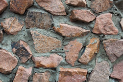 Wall from granite Stock Photography