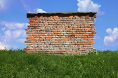 wall on the grass Royalty Free Stock Photo