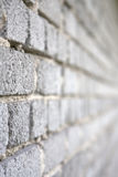 Wall of gray bricks Stock Photo