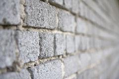 Wall of gray bricks Stock Images