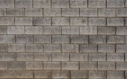 Wall of Gray Bricks Royalty Free Stock Photography