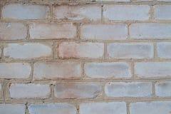 Wall of gray bricks. Housing made of gray brick wall Royalty Free Stock Image